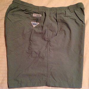 Columbia PFG Men's River Shorts Olive Size Large